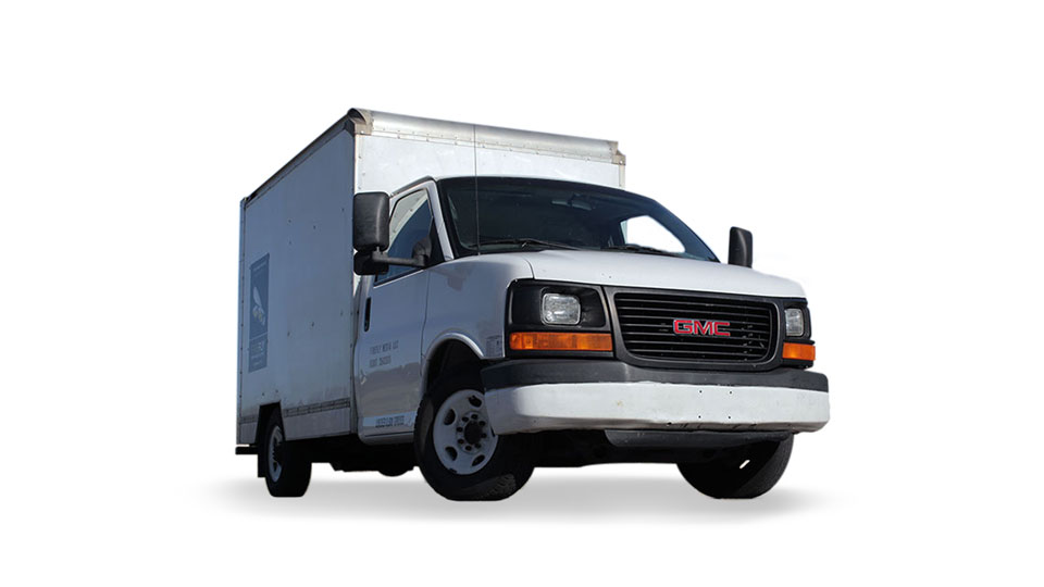 Picture of Firefly 1-Ton Grip Truck - White GMC Savannah 3500 HD