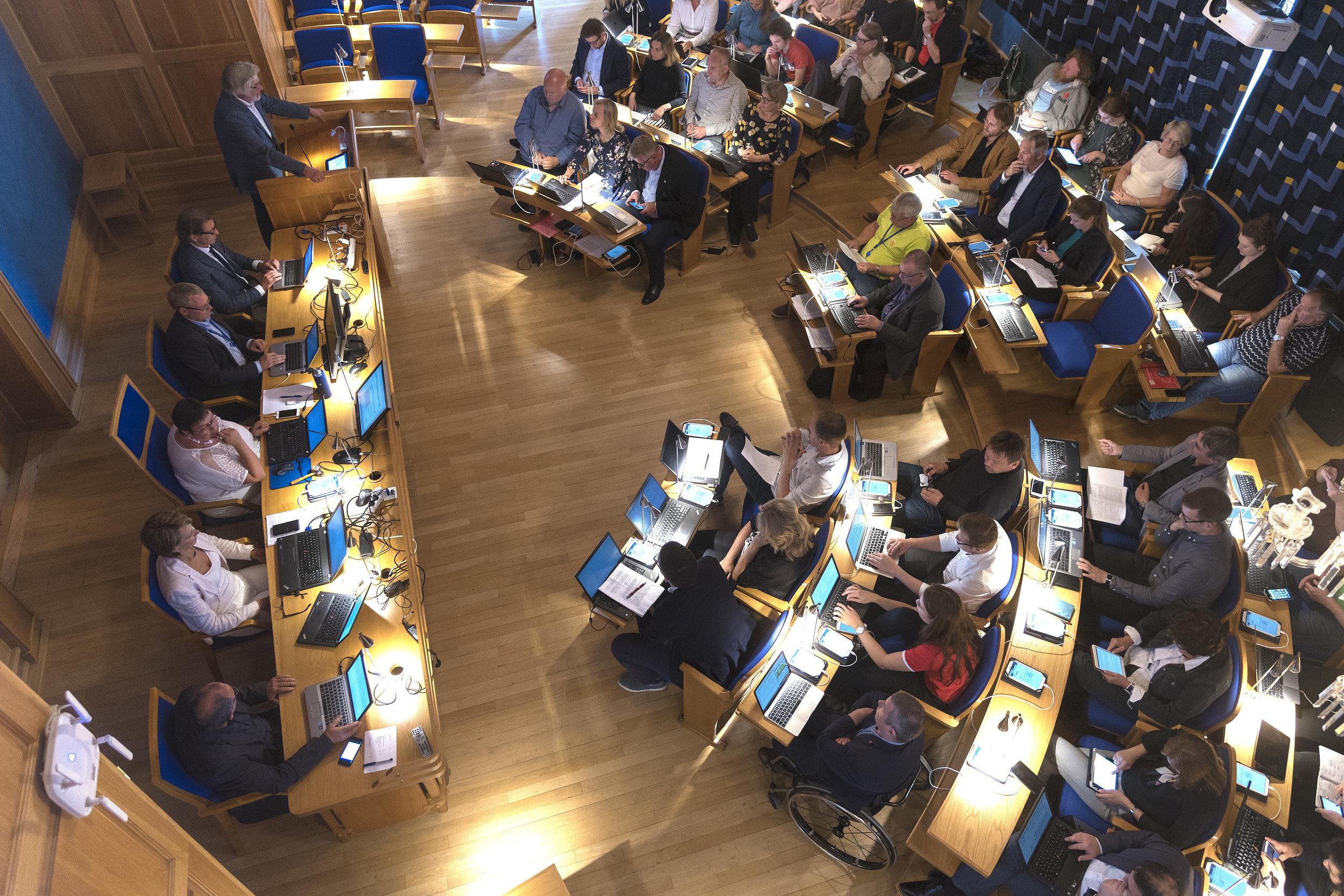 Kommunale styringsprosessar - Den tredje arbeidspakken tek for seg styringsprosessar i kommunane Sogndal, Horten, Malvik og Trondheim.
