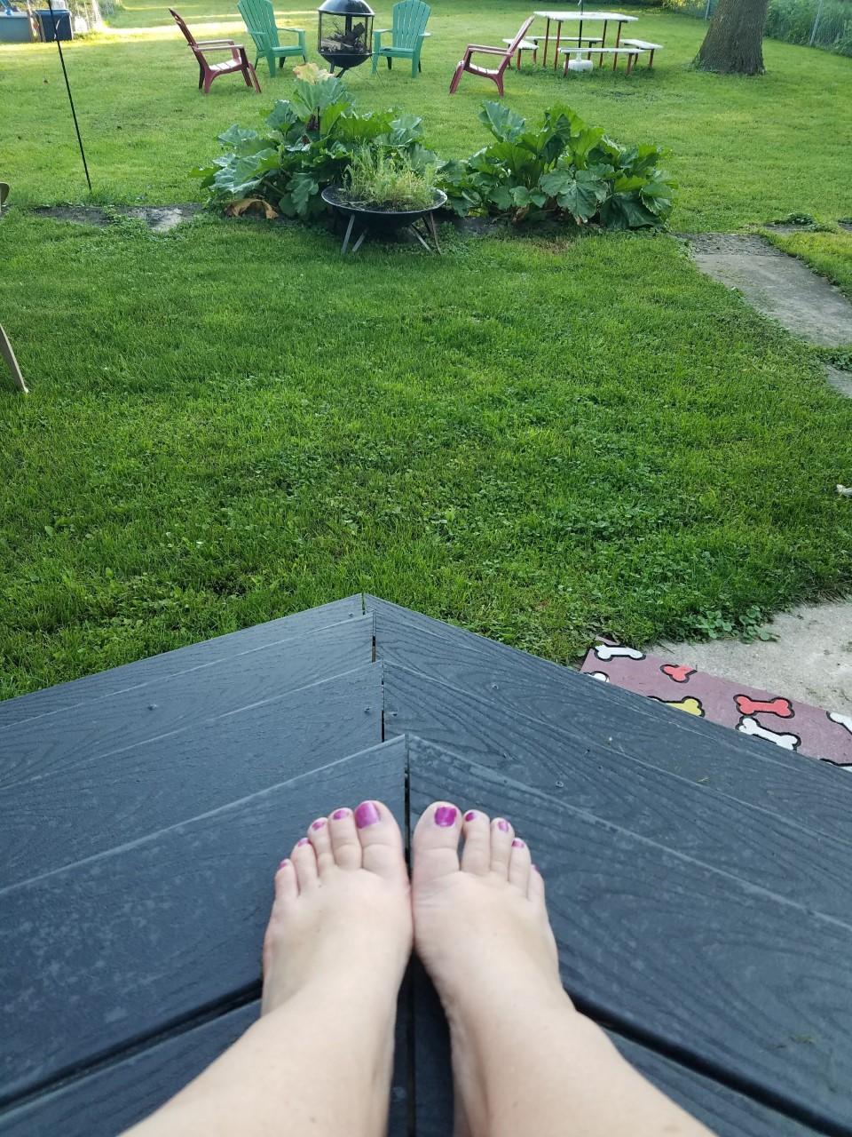 My beautiful Backyard where I sometimes teach yoga!