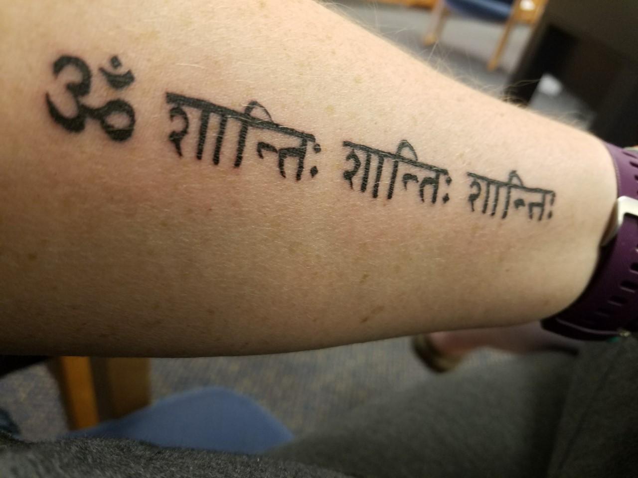 Om Shanti Shanti Shanti: Peace in your mind, peace in your body, and peace in your soul