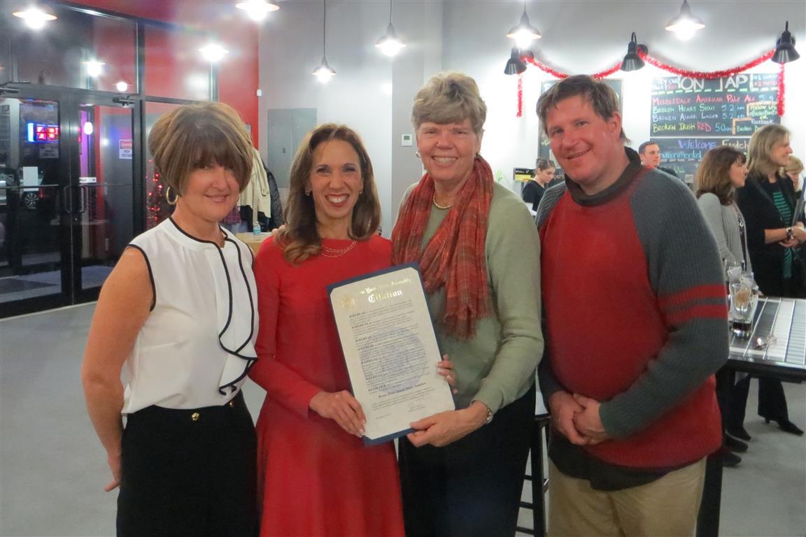 (L-R) Diane Morrison, Assemblywoman Amy Paulin, Sandy Morrissey and Bernie Conway