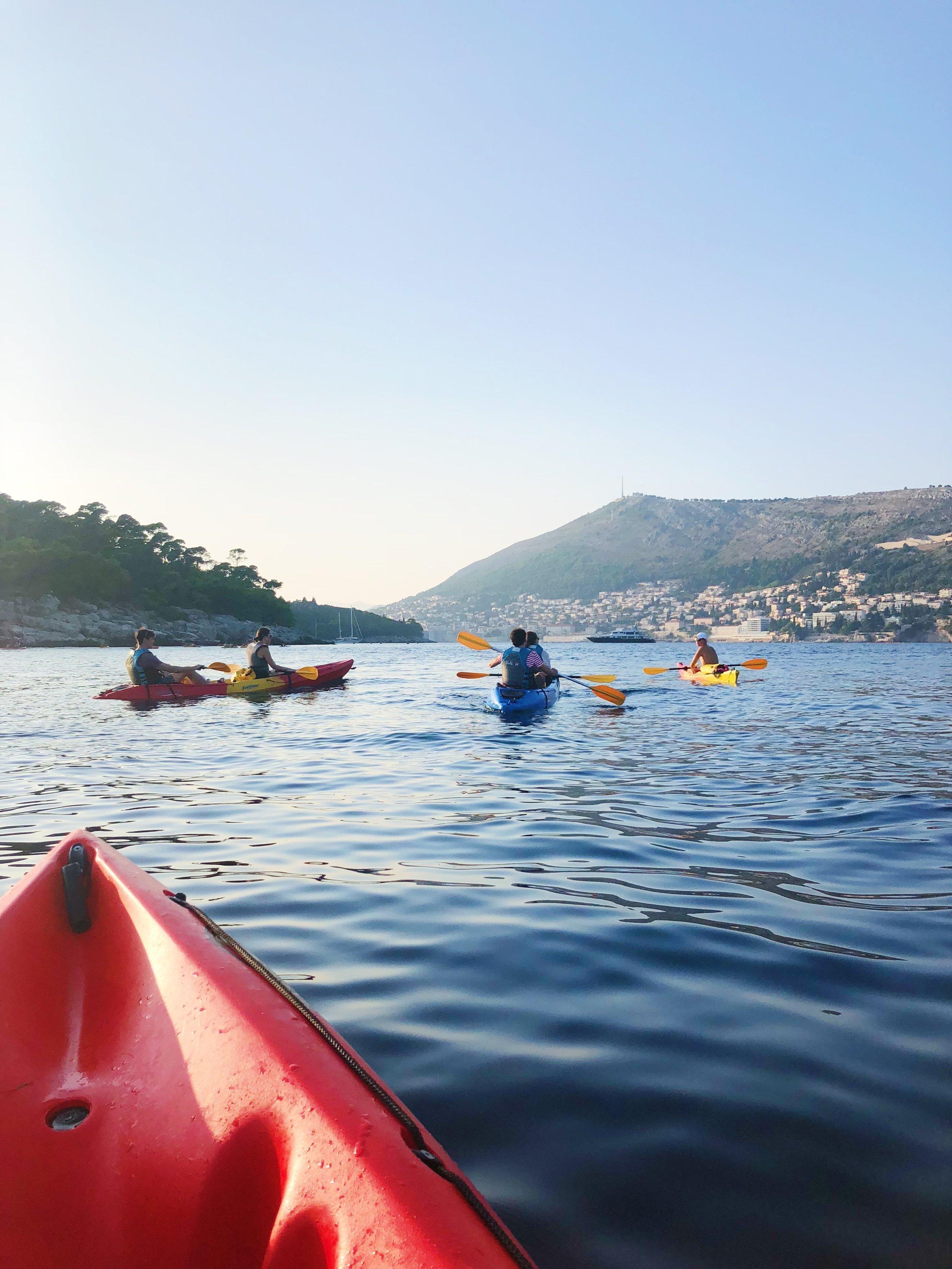 Kayaking in Split, Croatia