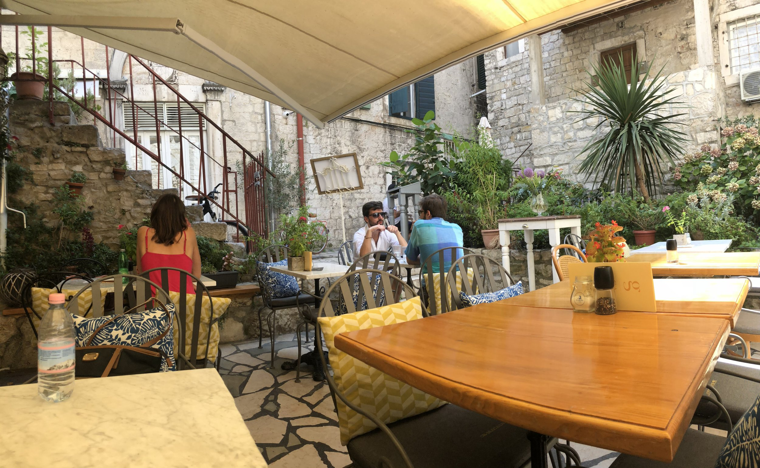 Cute cafe hidden in Split, Croatia