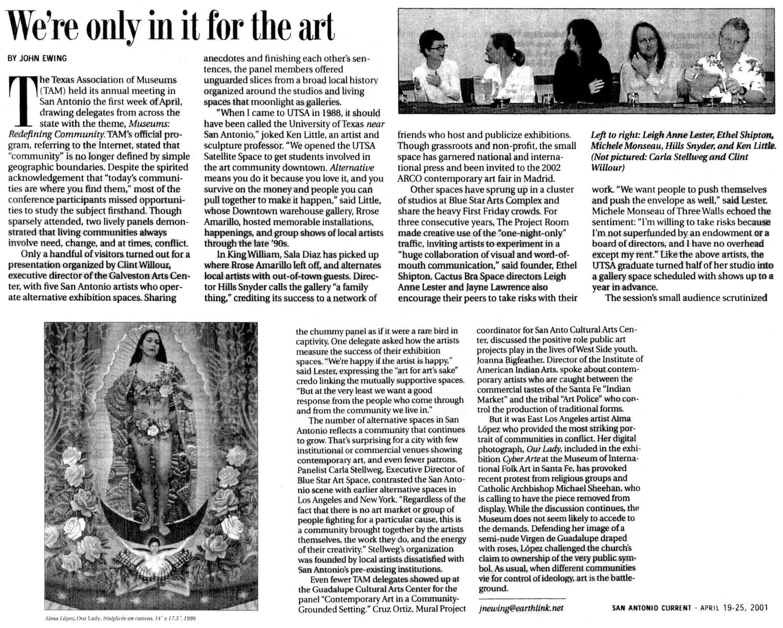 SC_2001_April 19-25_Texas Assoc. of Museums Panel