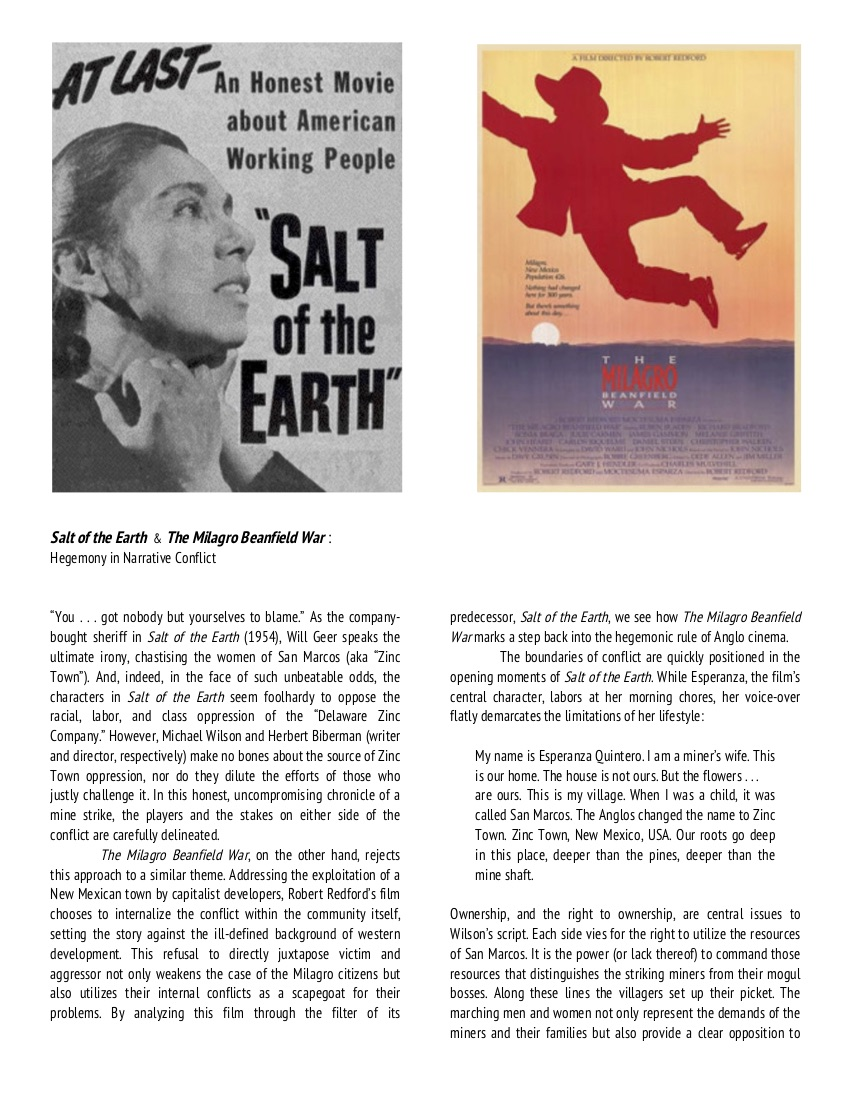 Salt of the Earth & The Milagro Beanfield War
