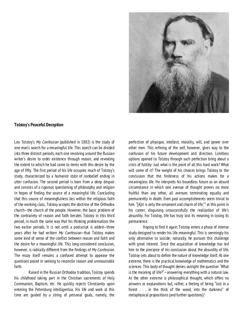 Tolstoy's Peaceful Deception