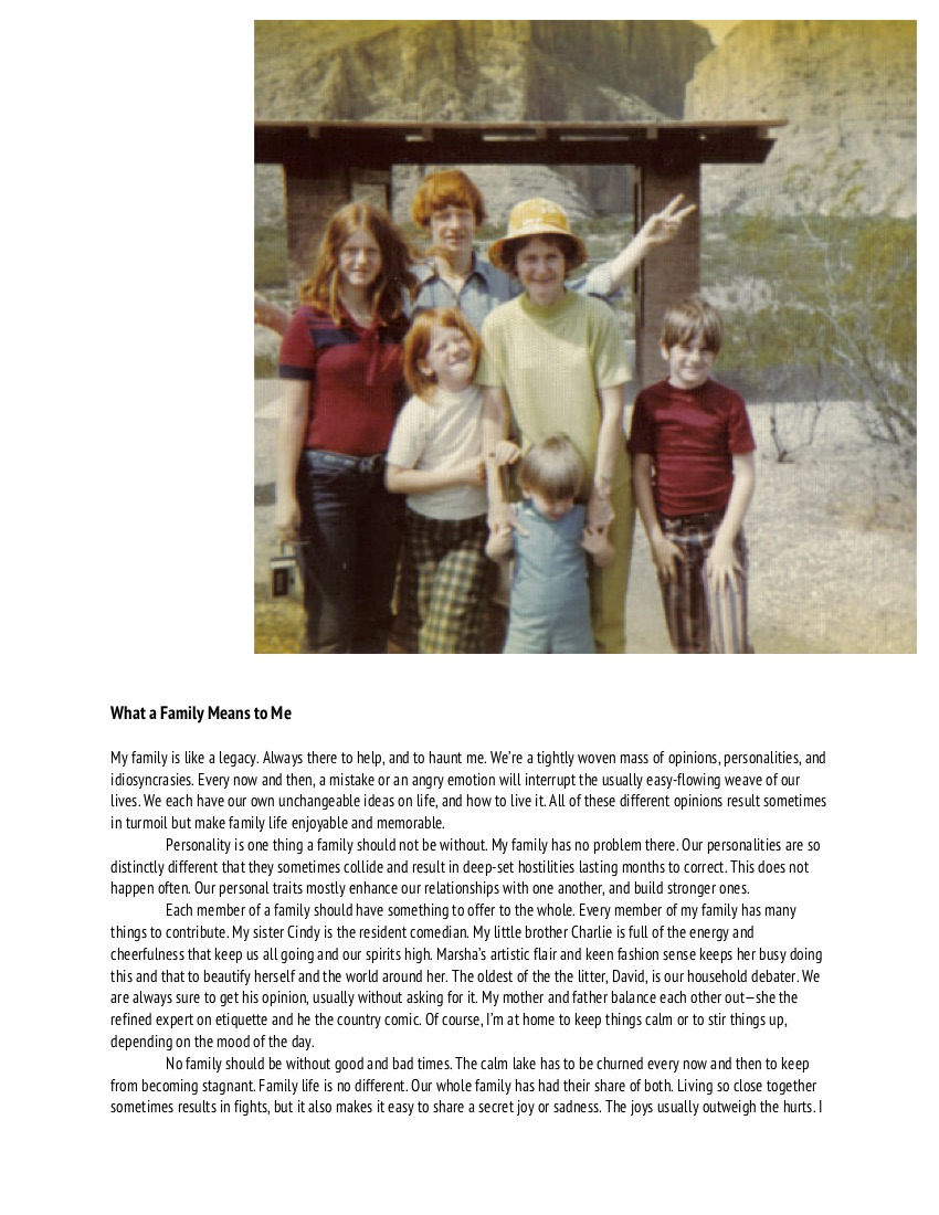 What a Family Means to Me_Kinds of Love