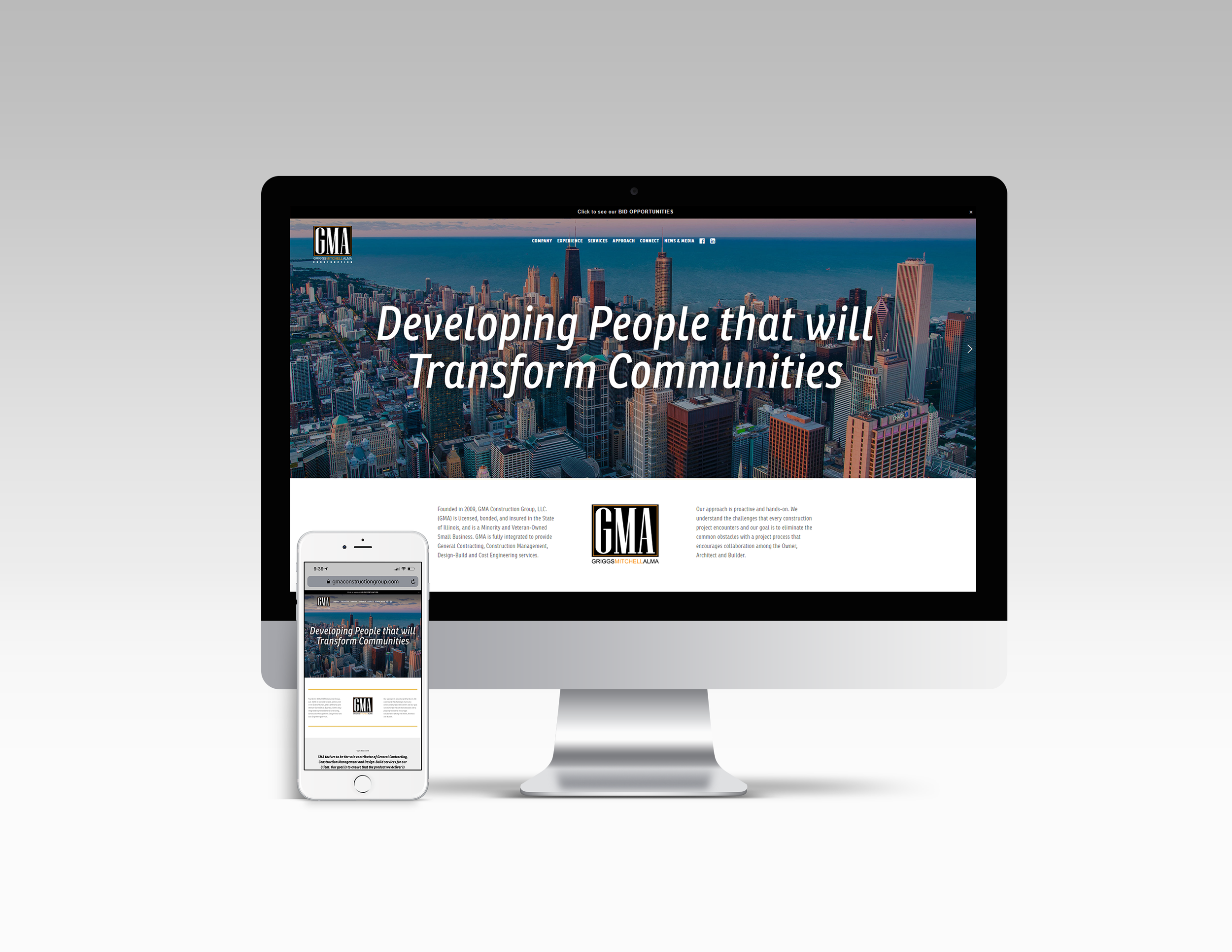 GMA Construction Group Website