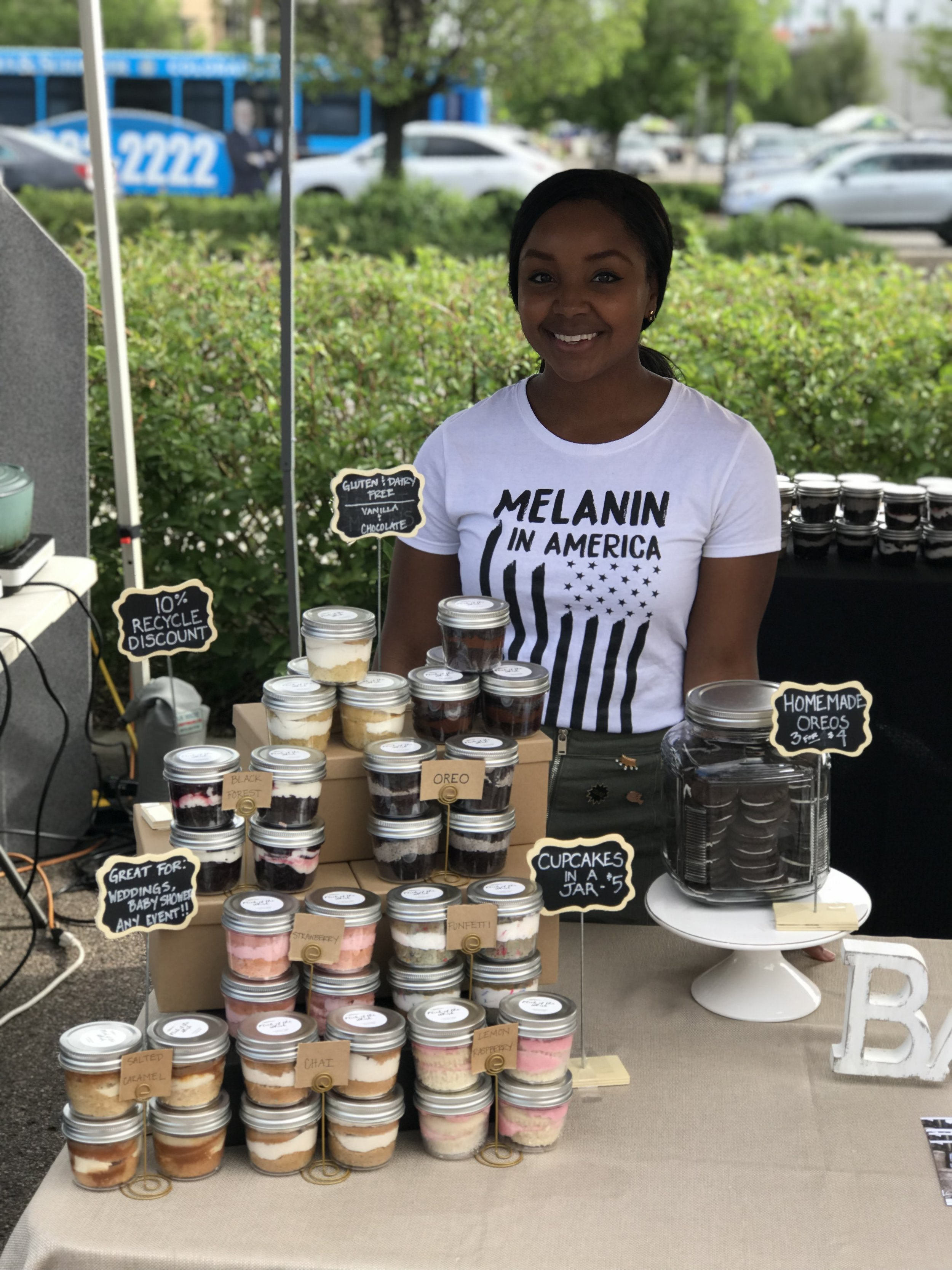 Owner & Baker, Bryonna, at the Cherry Creek Farmers Market