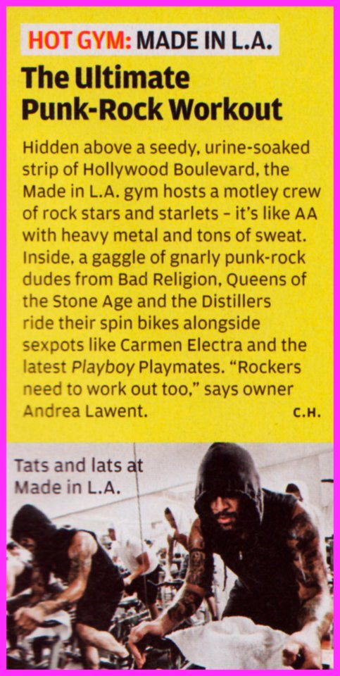 Article clipping from Rolling Stone Magazine Hot List
