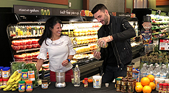 Patrice Bergeron teams with Bruins nutritionist Julie Nicoletti to teach a healthy smoothie recipe.   Click Here to watch the video.