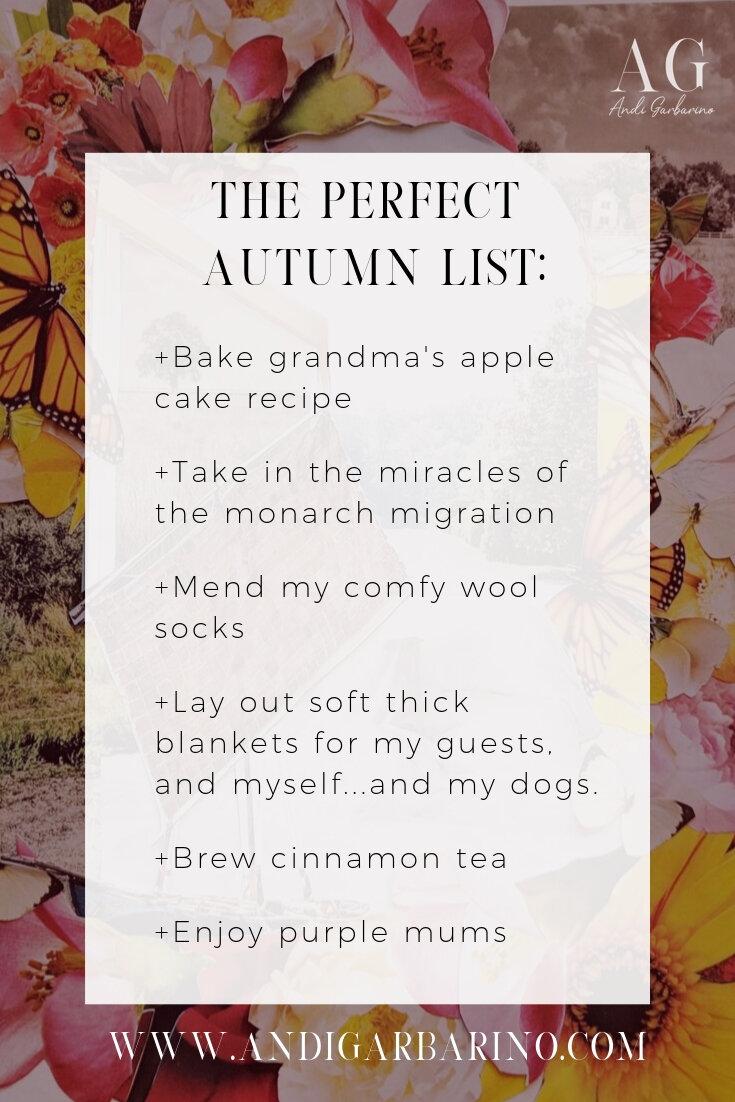 Perfect Fall Bucket list for Autumn To Do List Andi Garbarino Fine Art