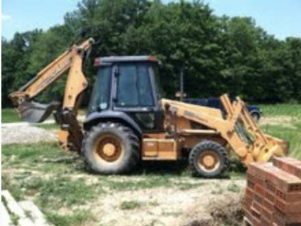 For those of you who don't know, this is a backhoe.