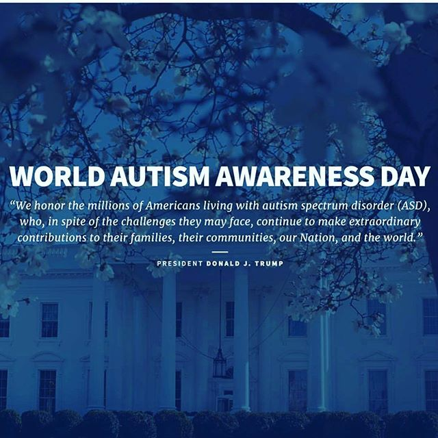 April is Autism Awareness month. @realdonaldtrump #autism
