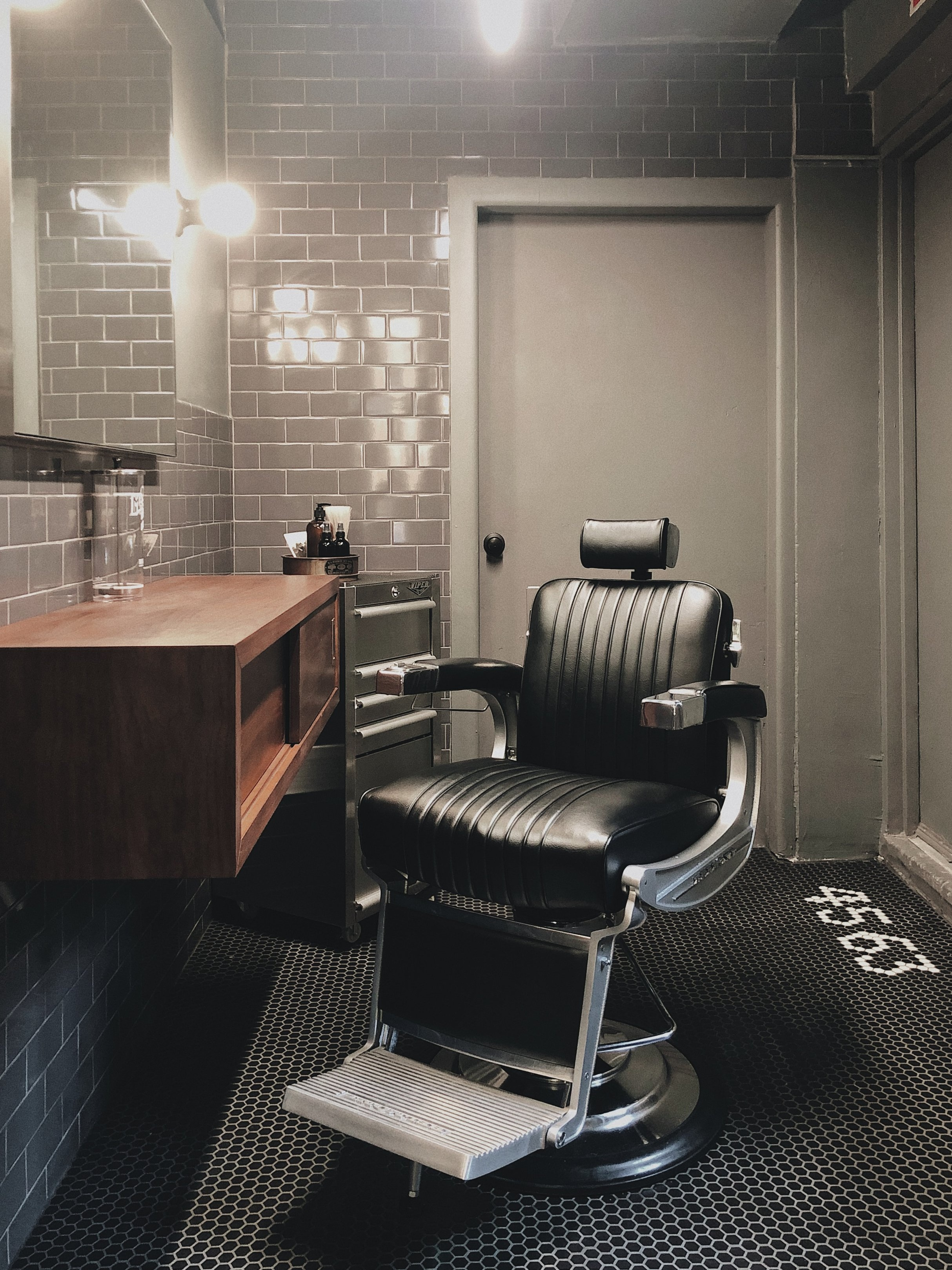 BABEOFBROOKLYN - WE'VE COLLABORATED WITH BROOKLYN BASED BRAND, BABE OF BROOKLYN, AND DESIGNED A ONE-CHAIR BARBERSHOP IN OUR SHOP.