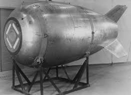 """Mark IV Nuclear Bomb """"Fat Man"""" casing - US Government Photo"""