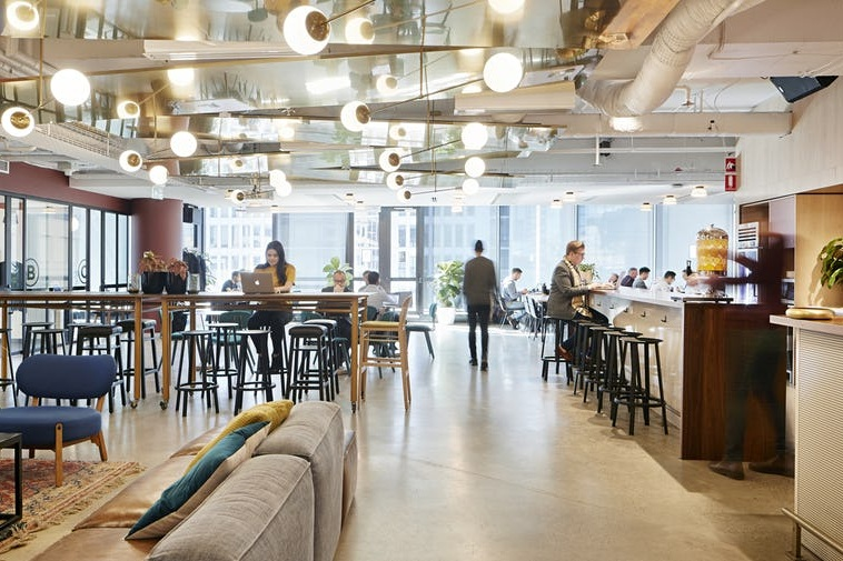 WeWork dynamic office space, transparent culture -