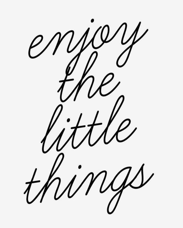 What are some of the little things that matter to you?