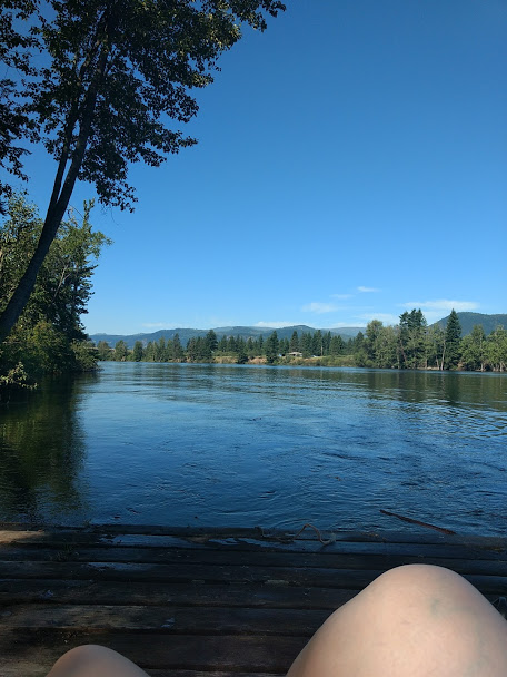 Relaxing at  HI-Shuswap  after eating far too many pancakes and not regretting it for a damn second.
