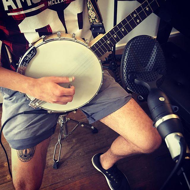 Banjo Tracking @four4ty #coles4038 #recording #music #banjo #goldtone