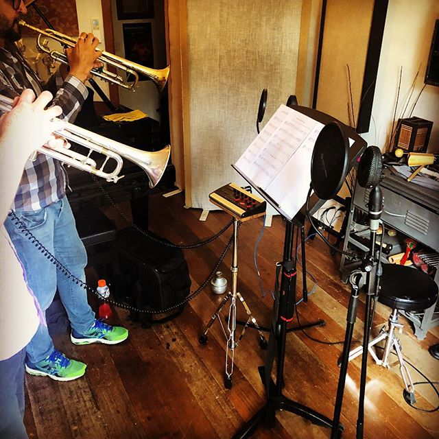 Trumpets Today!!!!!!! @four4ty #coles4038 #recordingstudio #music