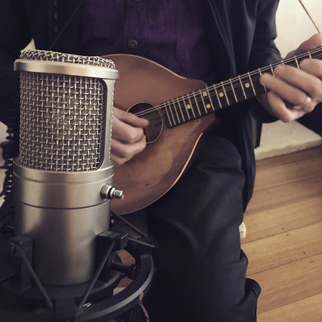 This 1920's Abbott Victor Mandolin sounds stellar!!!! #mandolin #recording #rodeclassic #music @four4ty