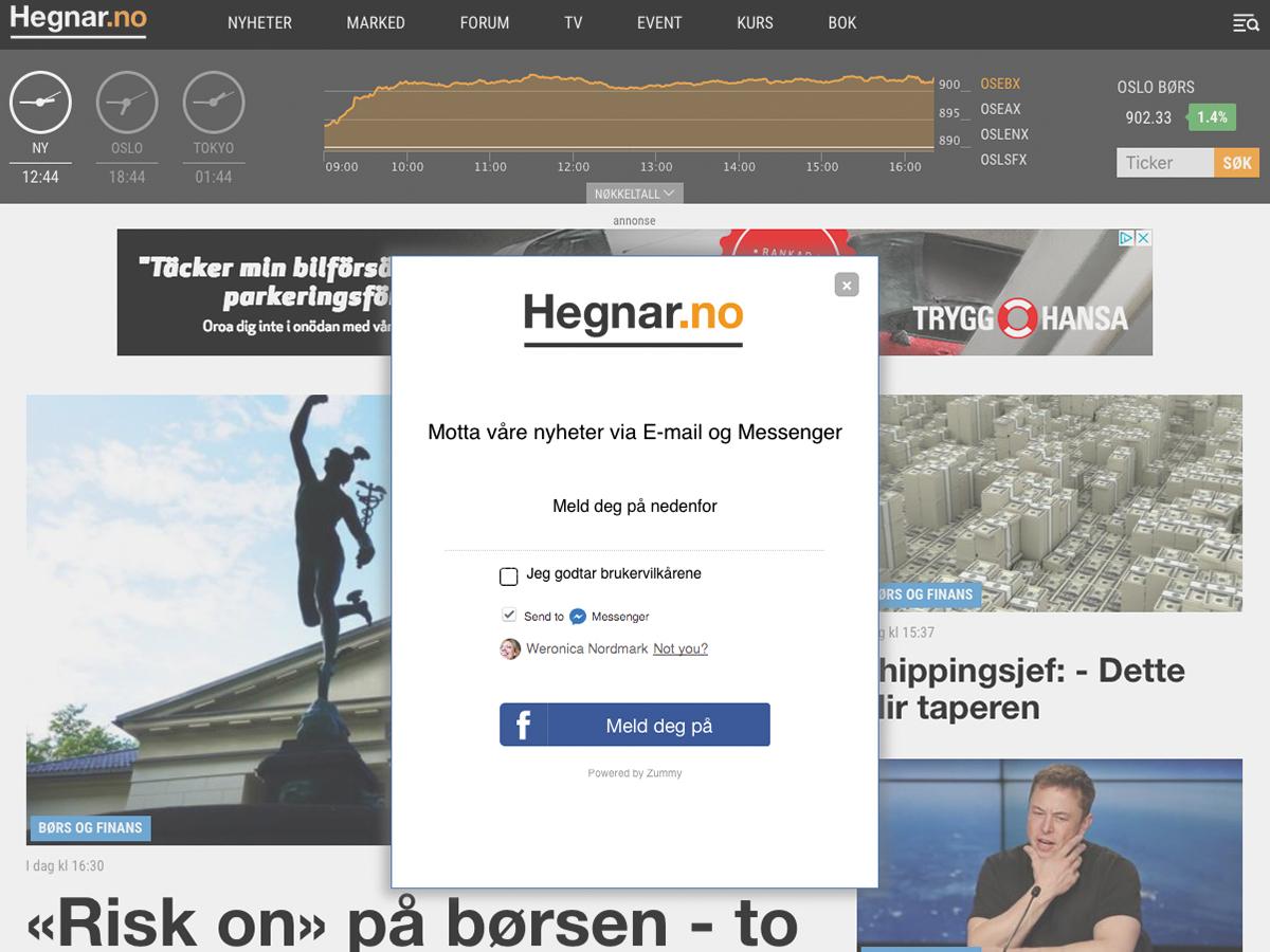 Hegnar publisher chatbot