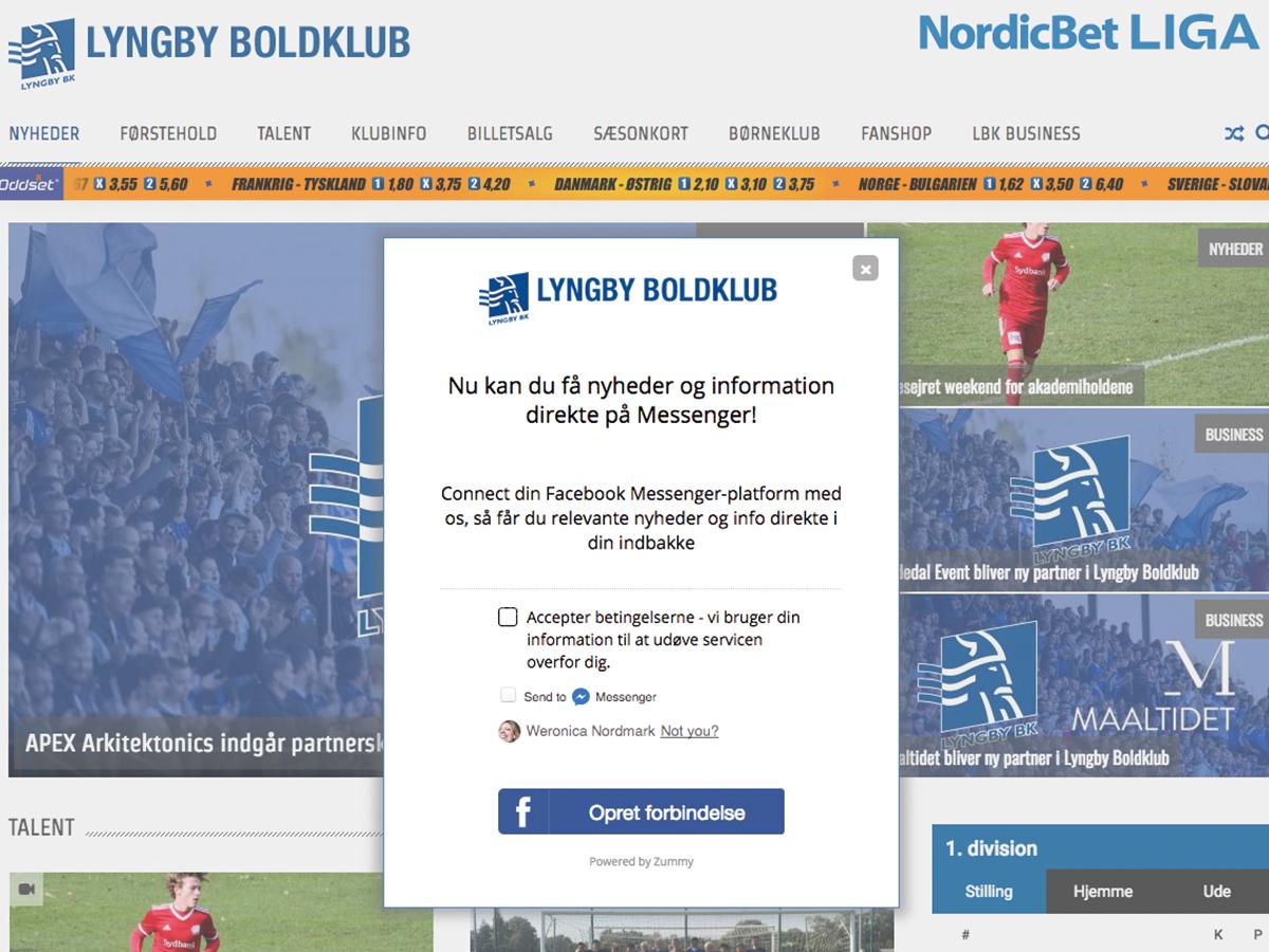 Lyngby Boldklub chatbot
