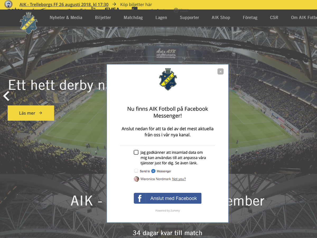 AIK Fotboll chatbot