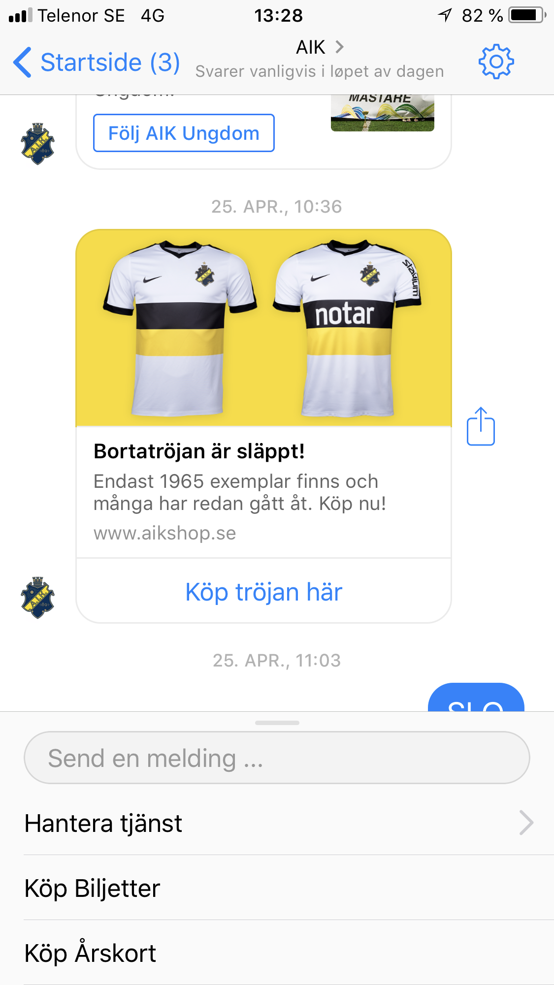 Chatbot for sport organizations