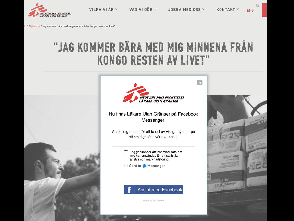 Médecins Sans Frontières uses the Zummy chatbot