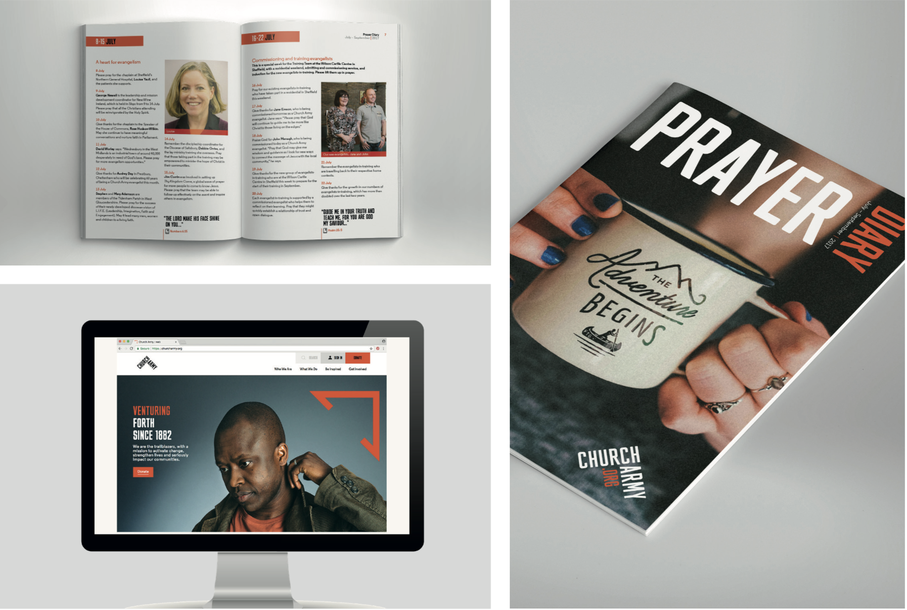 CHURCH ARMY - CPO partnered with Church Army to implement their new brand and printed resources. We went on to deliver a large scale strategic review of their digital communications to further develop the reach of their branding.