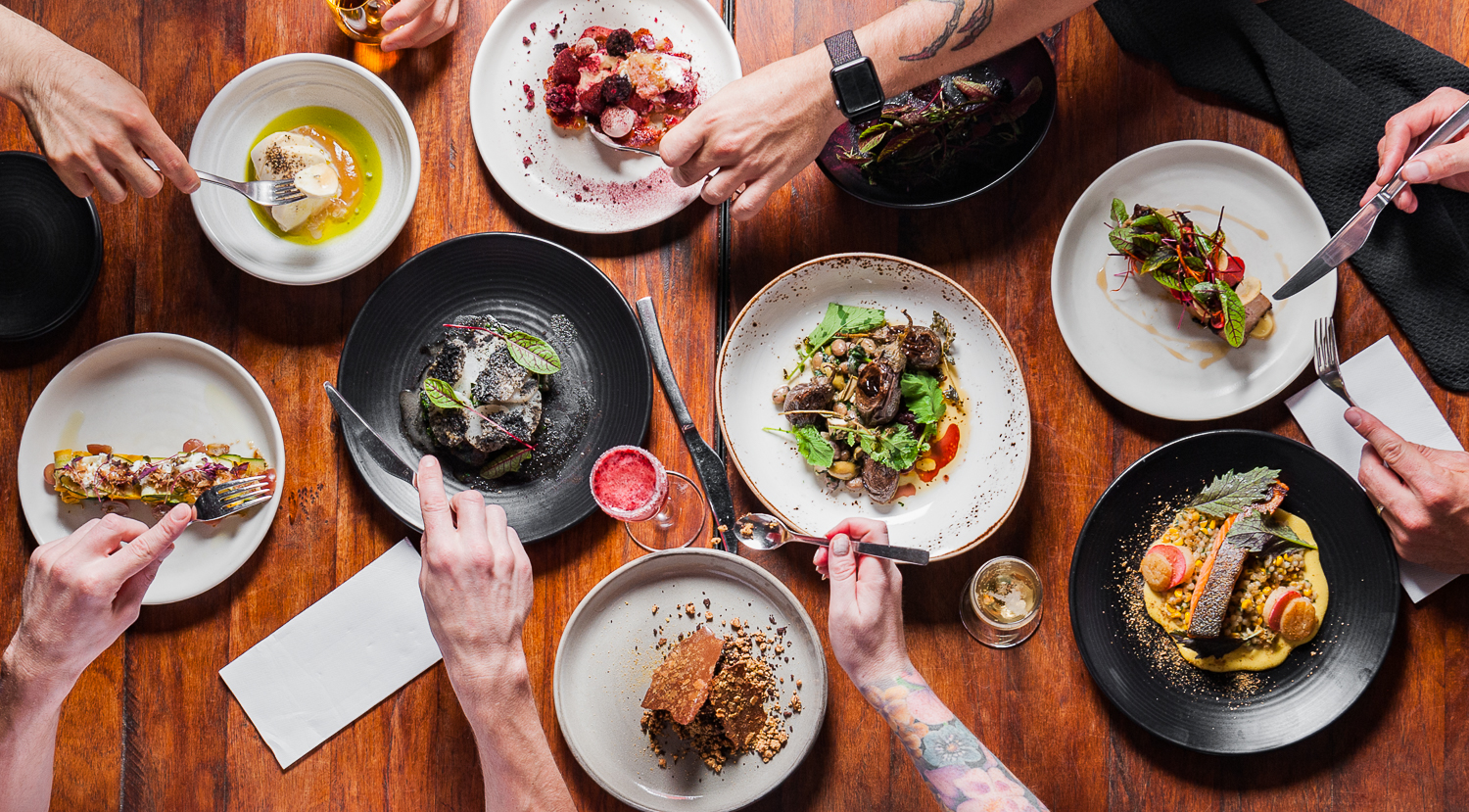 Food Photography Flatlay of Restaurant (The Noble Experiment)
