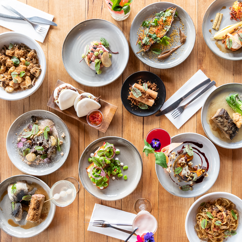 Flatlay of Food for Restuarant Social Media Photography