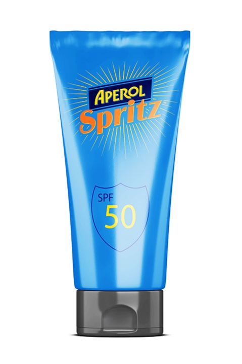 High SPF suncream turns orange to alert you when to top up.