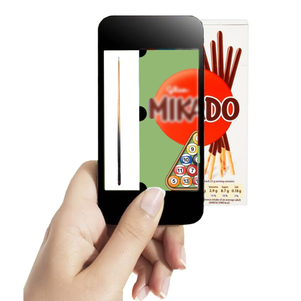 VR app to turn Mikado box into playing table and field.
