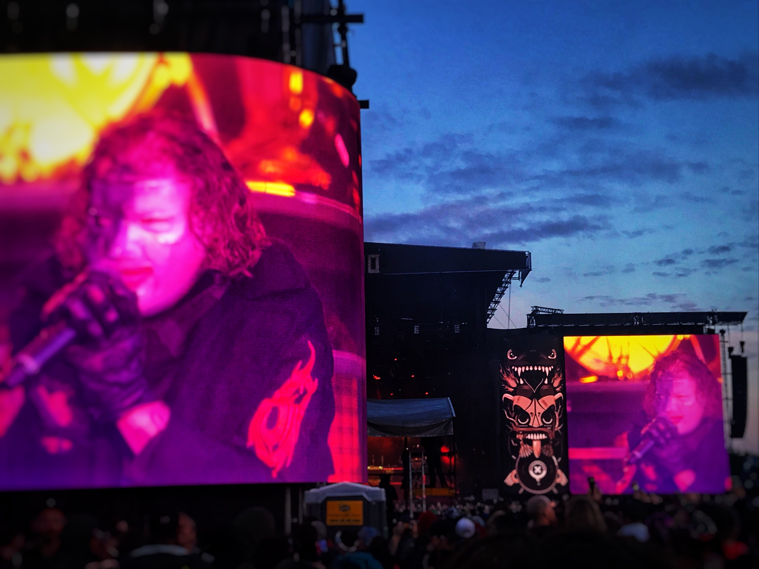 High definition for everybody. Slipknot on the big screens