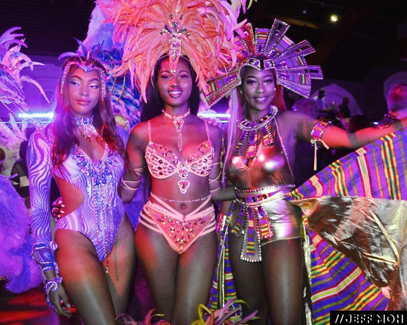 Carnival Dancers at the launch of the Notting Hill Carnival 2019 at The Tabernacle, Notting Hill.  Photography by: Jeff Moh.