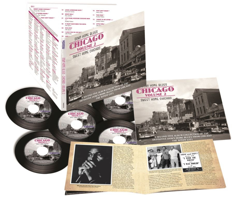 Down Home Blues - Chicago Vol. 2. 5 CDs, rare photographs and a superb booklet.