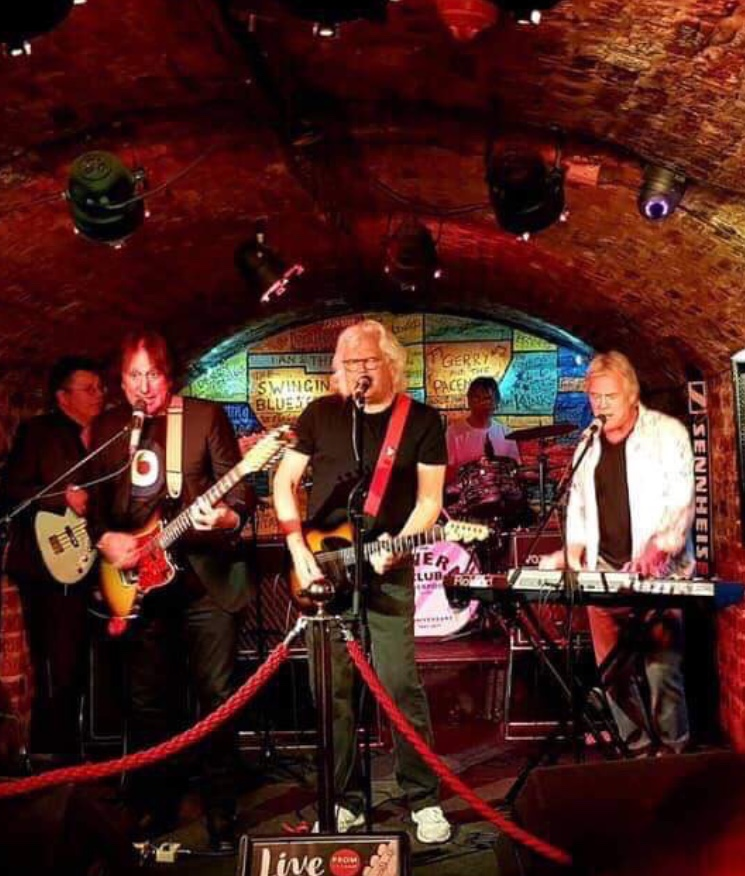 Walter Egan and The Malibooz playing at the legendary Cavern Club, Liverpool.