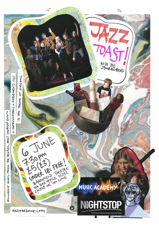Jazz Toast! gig poster