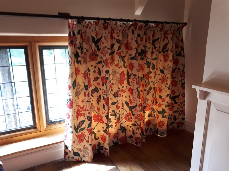 Pretty Soane Indian Parrots Curtains -