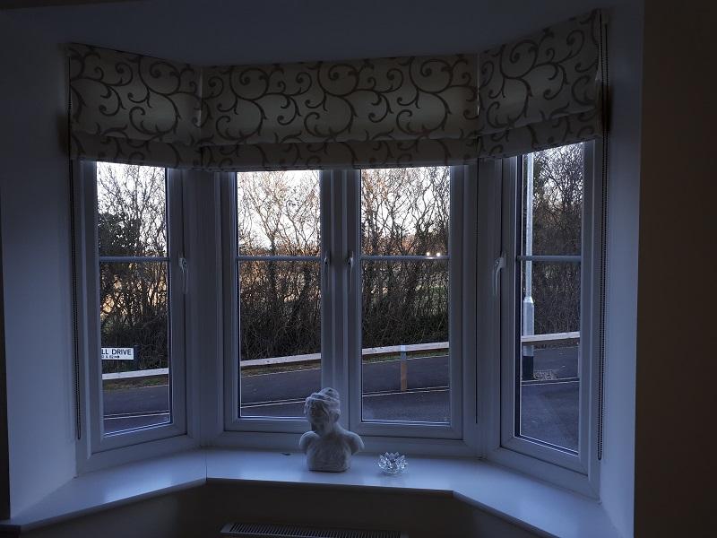 Bay window blinds -
