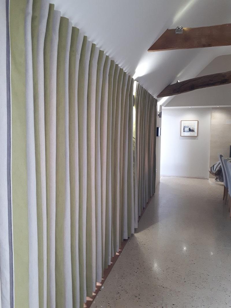 Wave curtain heading using Romo fabrics -