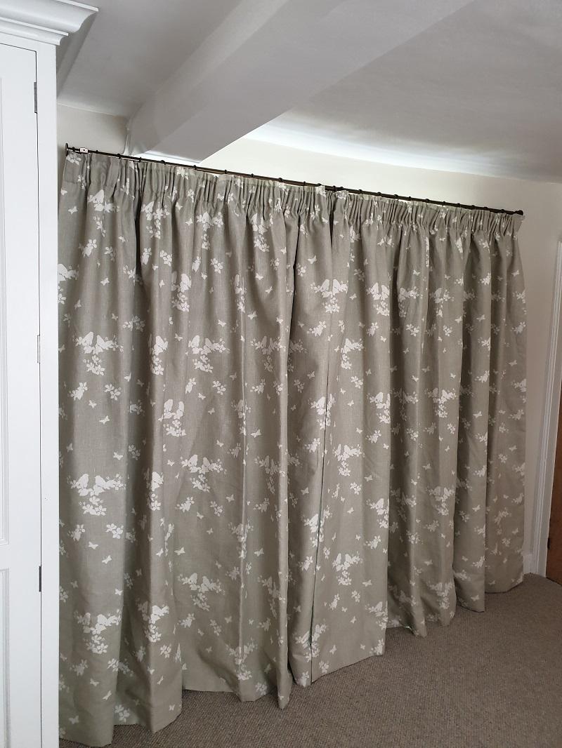 Interlined cottage pleat curtains in Susie Watson -
