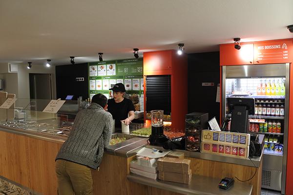 comptoir du restaurant Nachos à Angers