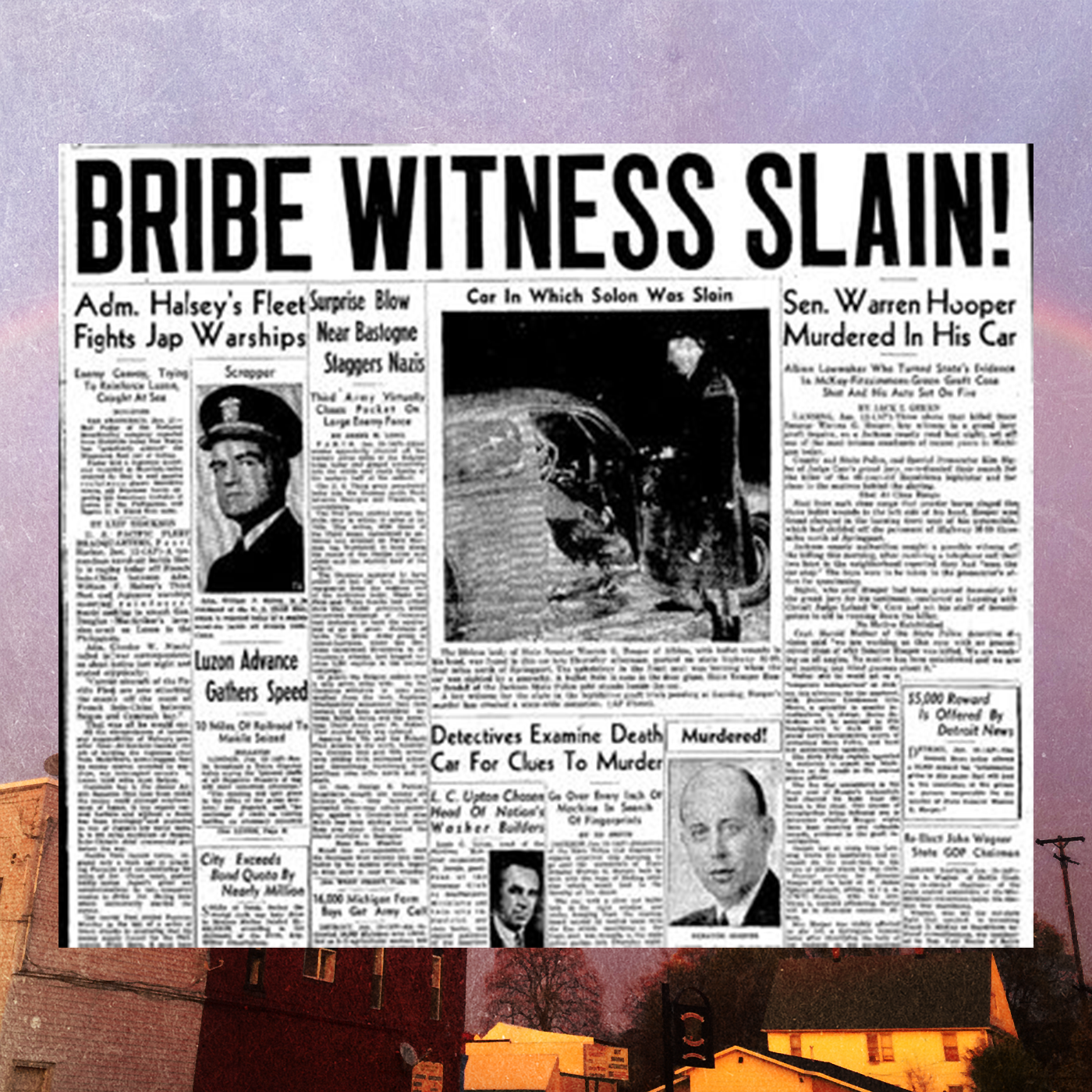 Front page reporting Hooper's assassination