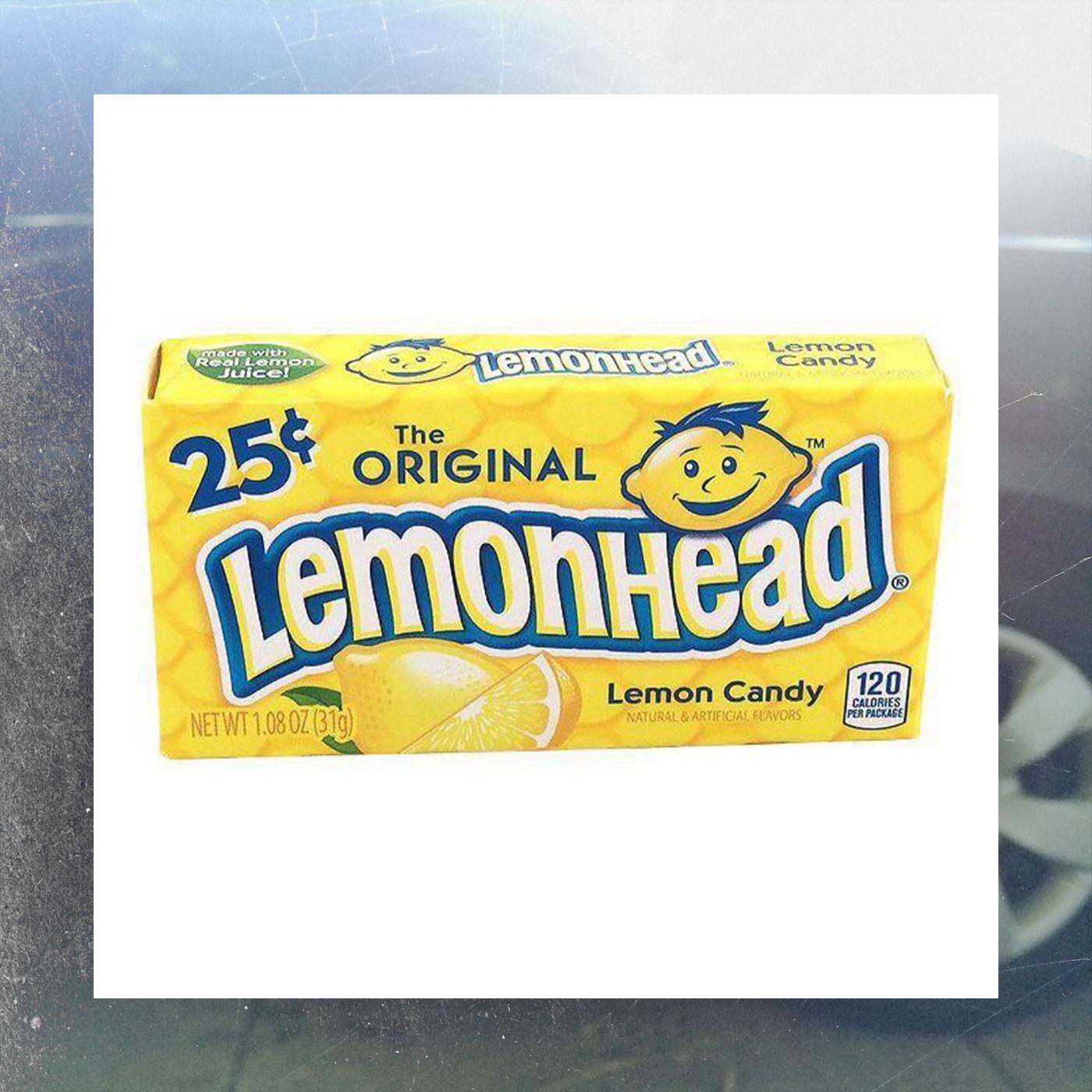 A box of Lemonheads