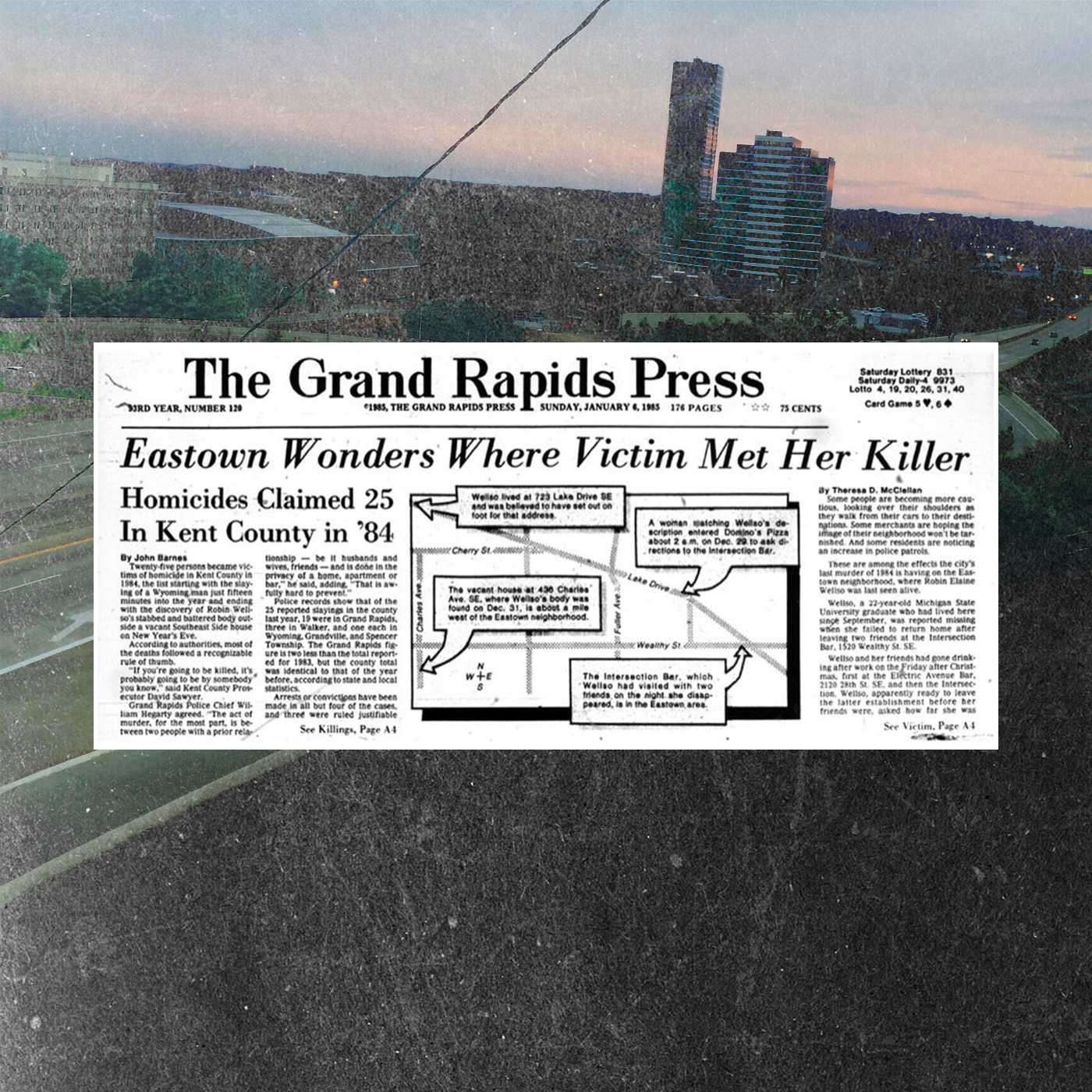 Grand Rapids Press newspaper clipping