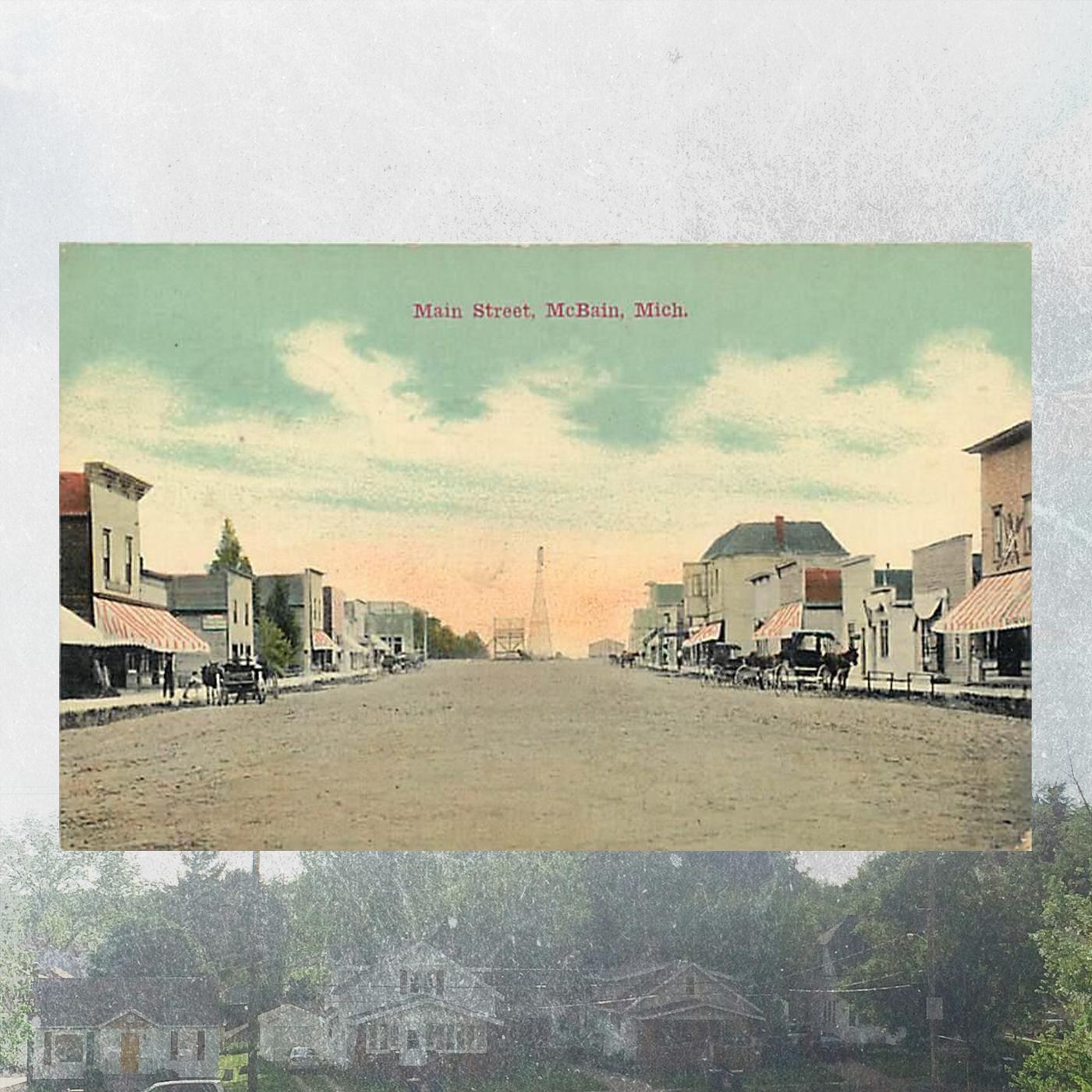 Postcard from McBain, Michigan